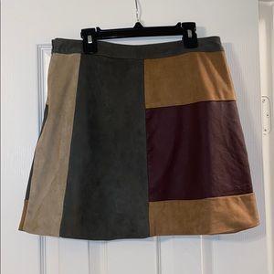 Abercrombie & Fitch Color Block Mini Skirt